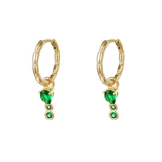 Lio Earrings Green