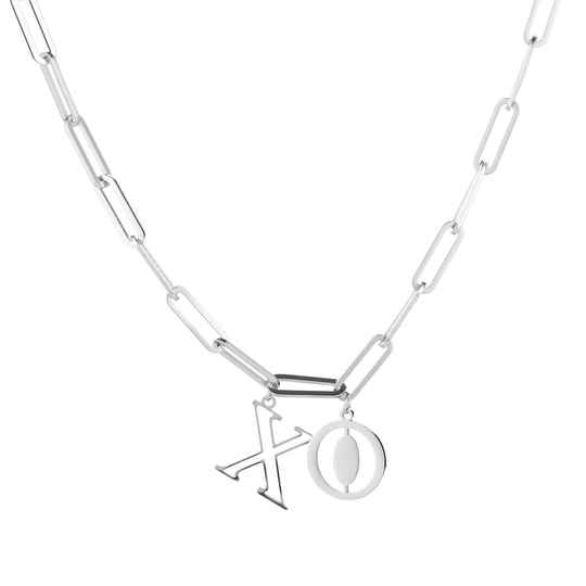 XO Necklace Silver