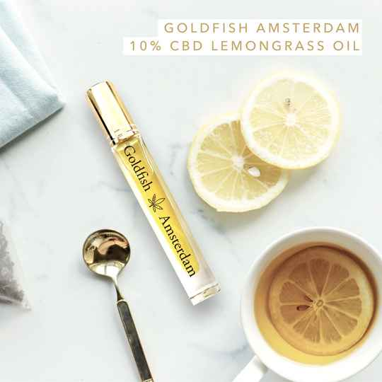 GOLDFISH AMSTERDAM | Spray Olie | Lemongrass 5%, 10% of 15% CBD Olie met vitamine D3 | THC 0%