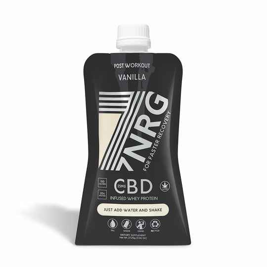 7NRG | POST-WORKOUT CHOCOLATE WHEY PROTEIN SHAKE | 25MG CBD | 265 ML