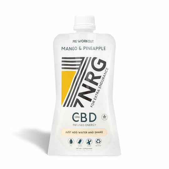 7NRG | PRE-WORKOUT MANGO & ANANAS ENERGY SHAKE, TROPICAL PUNCH | 12MG CBD | 265 Ml