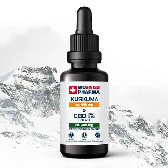 BIO SWISS PHARMA | Kurkuma & CBD | Isolate | 1% CBD