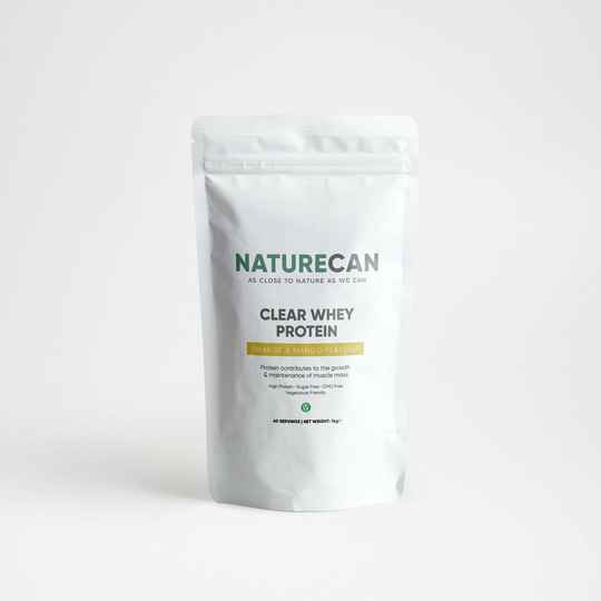 NATURECAN | CLEAR WHEY PROTEIN ISOLATE | Tropical, Orange Mango of Berry | 1 Kg | 40 Scoops