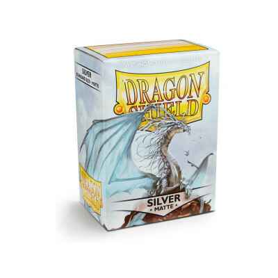Sleeves Dragon Shield Matte- Silver (100 stuks)