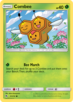 Combee - 31/214 - S&M Lost Thunder - Common