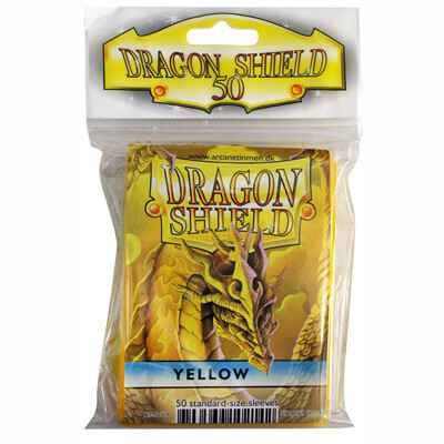 Sleeves Dragon Shield - Standard - Yellow (50 stuks)
