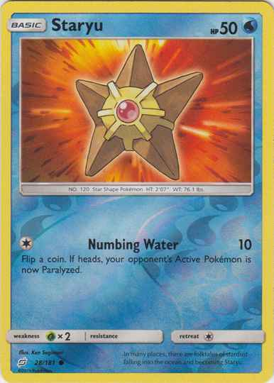 Staryu - 28/181 - S&M TeamUp - Common Reverse Holo