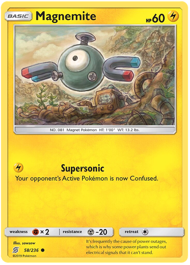 Magnemite -58/236- S&M Unified Minds - Common