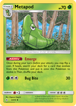 Metapod 3/234 - Unbroken Bonds - Uncommon