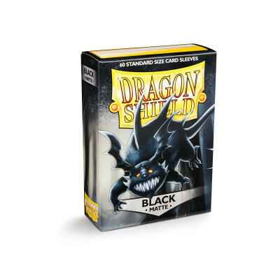 Sleeves Dragon Shield Matte Black (60 stuks)