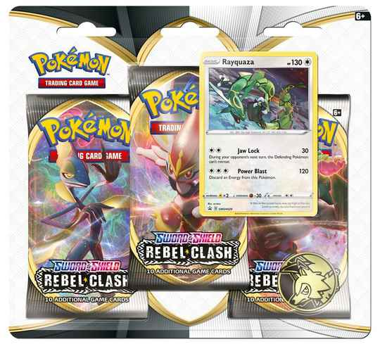 Sword and Shield - Rebel Clash - Rayquaza 3 Pack Blister