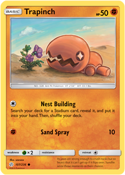 Trapinch 107/236 - Cosmic Eclipse - Common