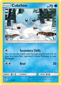 Cubchoo - 61/214 - S&M Lost Thunder - Common