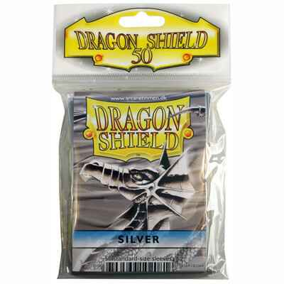 Sleeves Dragon Shield - Standard - Silver (50 stuks)