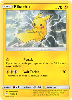 Pikachu 66/236 - Cosmic Eclipse - Common