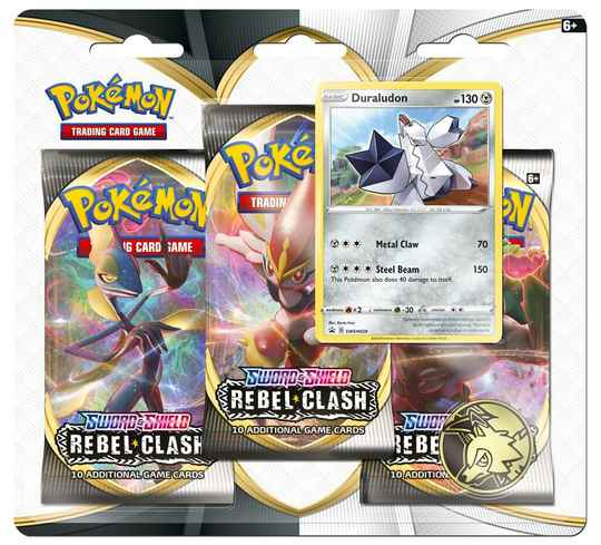 Sword and Shield - Rebel Clash - Duraludon 3 Pack Blister