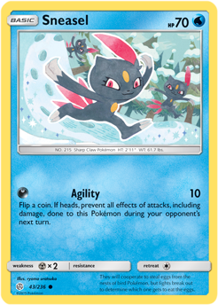 Sneasel 43/236 - Cosmic Eclipse - Common