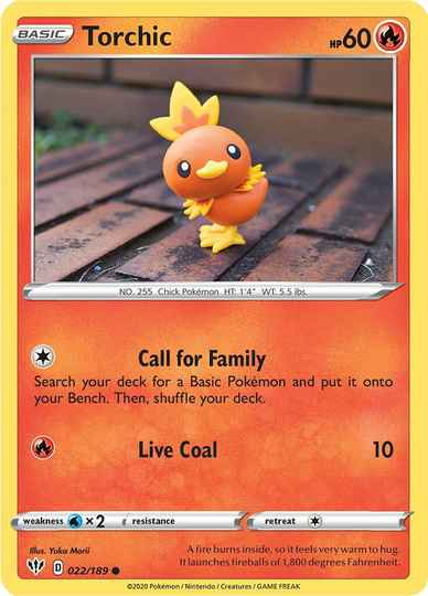 Torchic -22/192- SWSH Darkness Ablaze - Common