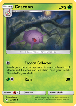 Cascoon - 27/214 - S&M Lost Thunder - Uncommon