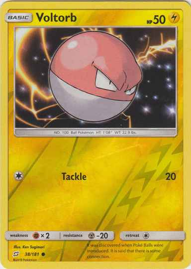 Voltorb - 38/181 - S&M TeamUp - Common Reverse Holo
