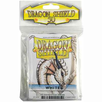 Sleeves Dragon Shield - Standard - White (50 stuks)