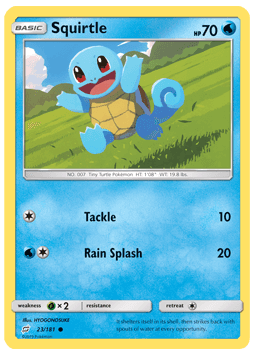 Squirtle - 23/181 - S&M TeamUp - Common