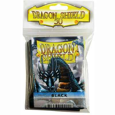 Sleeves Dragon Shield - Standard - Black (50 stuks)