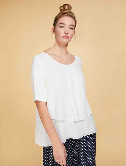 Persona by Marina Rinaldi top  VALGO wit - 004545