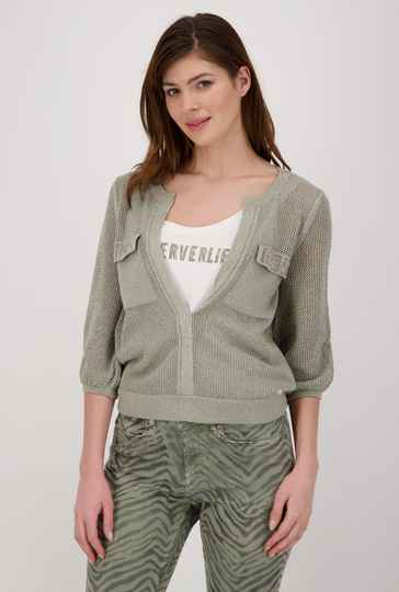 Monari zomerse pull 406485 dusty green  - 004679
