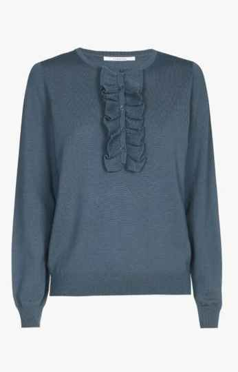 Xandres Gold  pull met ruches X-HEDSER  petrol - 005113