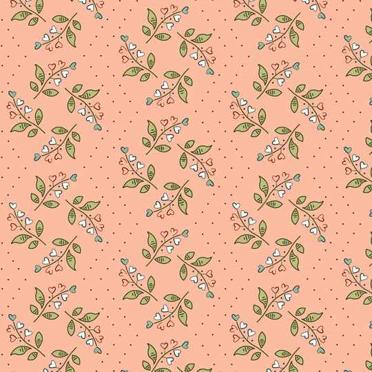 Q474 EQP  -stof Lily of the Valley - Frosted Pink - New Vintage