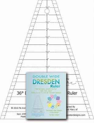 Double wide dresden ruler