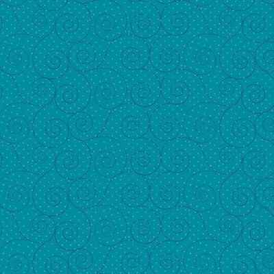 Q913 - stof turquoise scroll