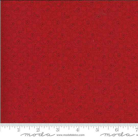 """Q260 - stof red on red paisley """"Roselyn"""" - Minick & Simpson by Moda"""