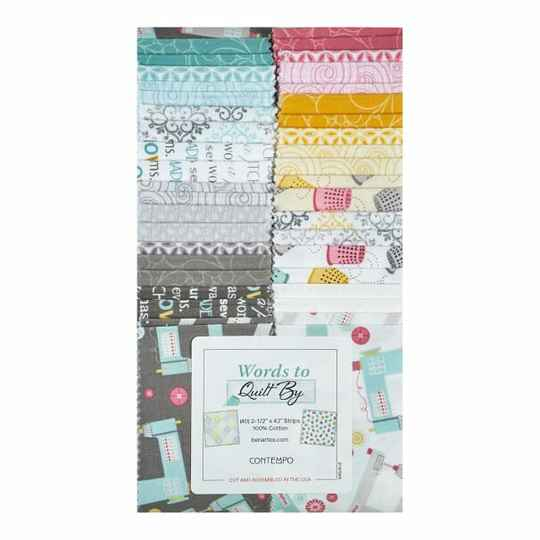Words to Quilt By strips van 2 1/2 x 42 inch - Contempo