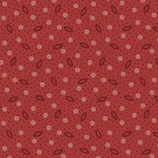 Q648 - stof red dotted - Ruby by Bonnie Sullivan Maywood