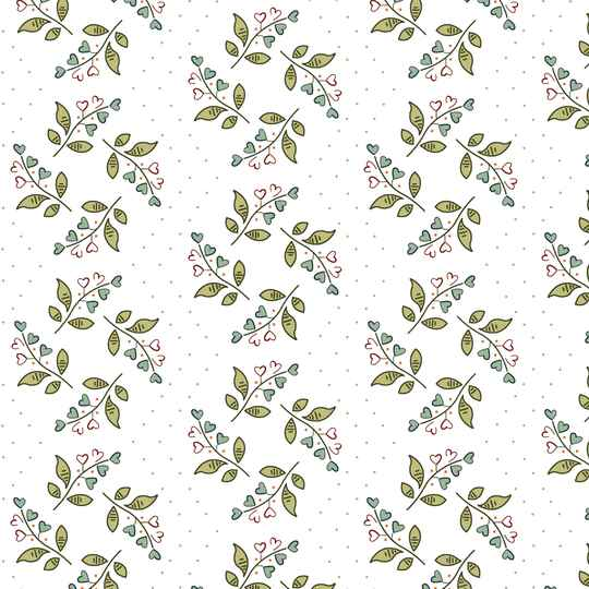 Q539 EQP  -stof Lily of Valley - Cream - New Vintage