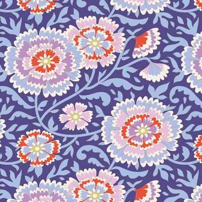 T16 - stof elodie lilac blue serie The Bird Pond Collection by Tilda