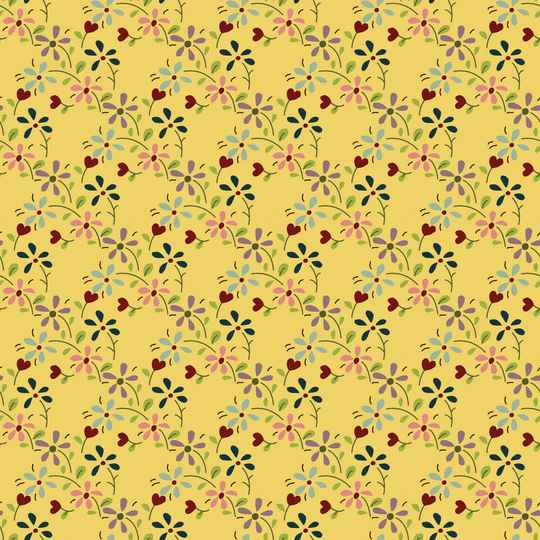 Q760 EQP TH -stof - yellow - Summer meadow