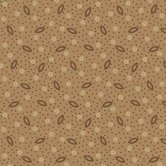 Q786 - stof gold dotted - Ruby by Bonnie Sullivan Maywood