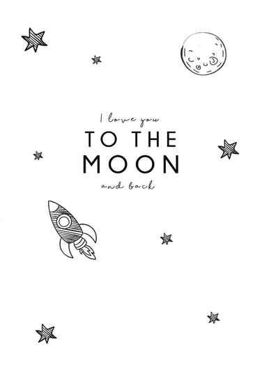 Kaart - I love you to the moon and back