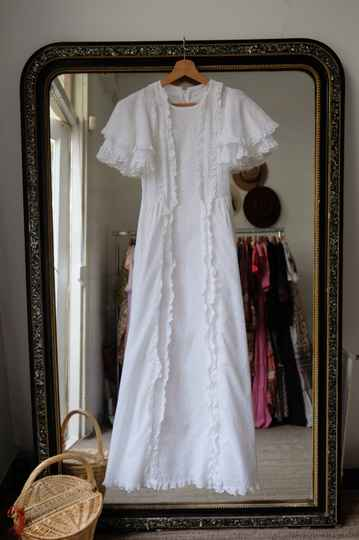 70s Broderie Anglaise Dress