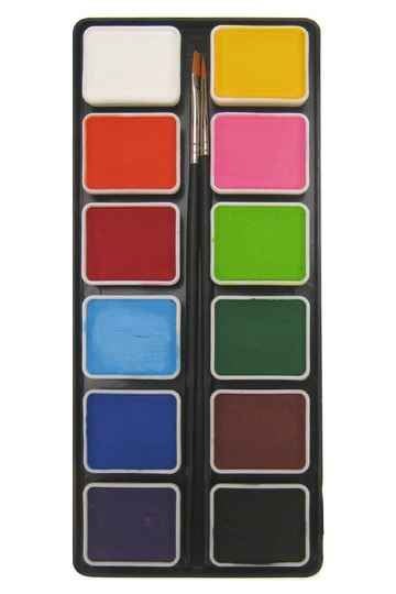 PXP Professional Colours palet regular colours 12 x 6 gram with 2 brushes size 2 - 43700