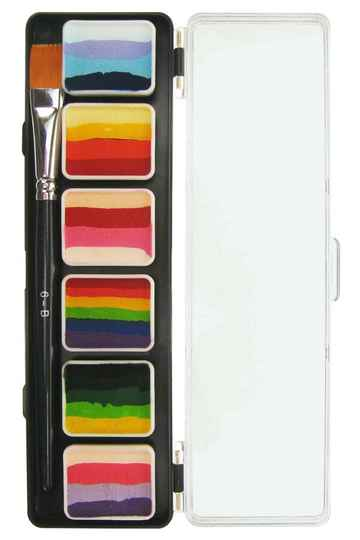 PXP Professional Colours Special FX 6 x 6 gram splitcake palet with a brush size 6 - B