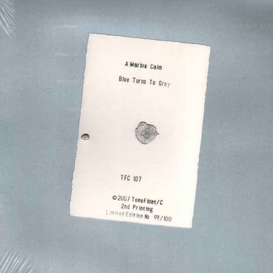 TF/C107 - A MARBLE CALM - BLUE TURNS TO GREY (CLEAR VINYL LP)