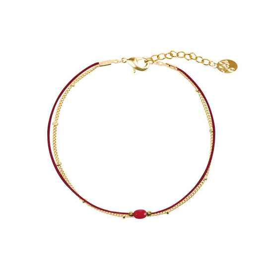 Armbanden - Stone & Sweet Little Dots Rood