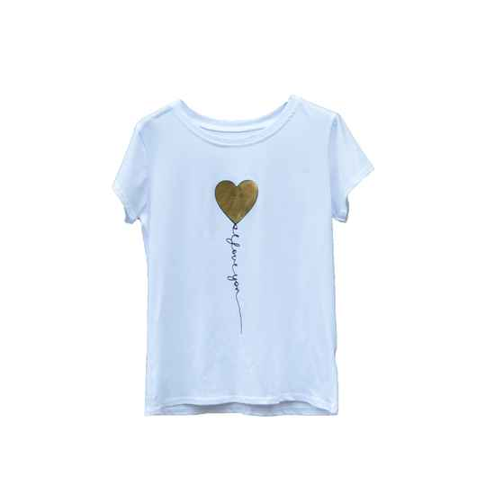 Tops & T-shirts - Cute heart Goud