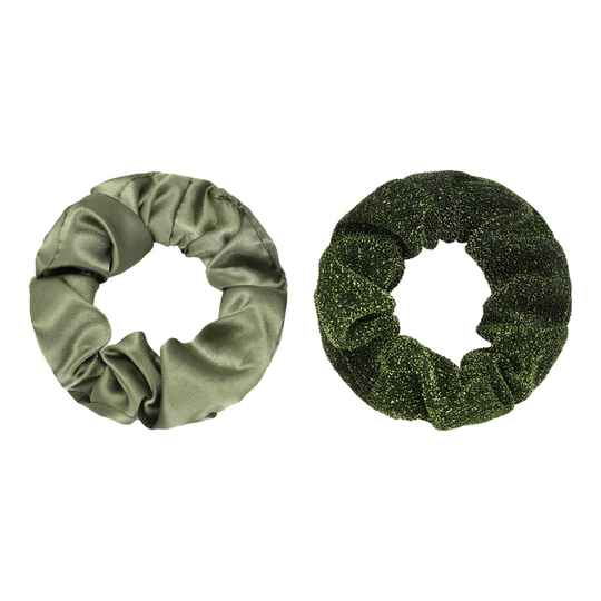 Haaraccessoires - Scrunchie Set of Two Groen