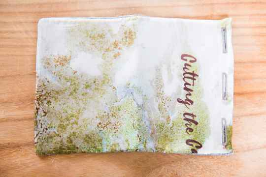 Silk Pocket Square -Water Color- Natural/Green/White/Brown