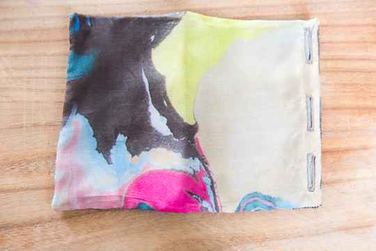 Silk Pocket Square - Water Color - Brown/Yellow/Blue/Pink